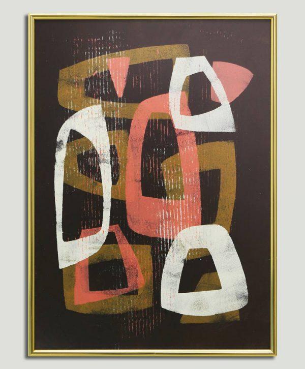 abstract schilderij met lijst
