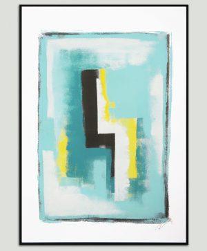 minimalistisch schilderij op papier