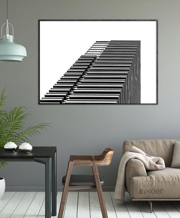 gebouw zwart wit lijnen