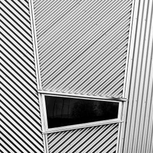 modern gebouw zwart wit