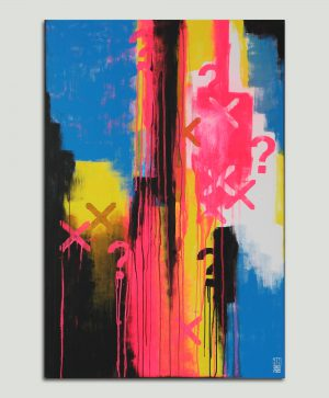 neon typografisch schilderij