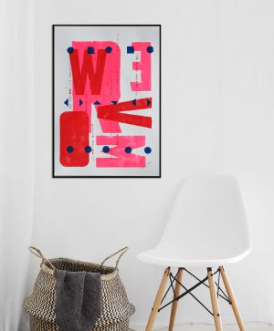 roze grafische kunst