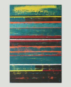 abstract gestreept schilderij