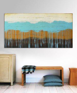 abstract horizontaal schilderij