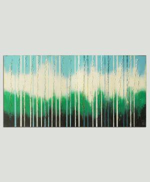 abstract groen schilderij