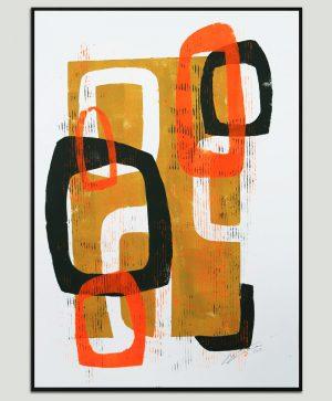 abstract kunstwerk op papier