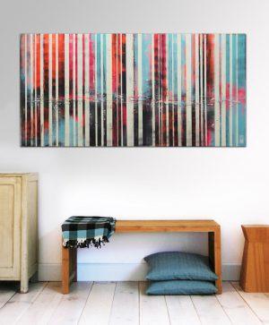 abstract neon schilderij