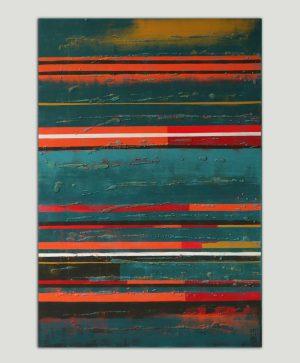 abstract oranje schilderij