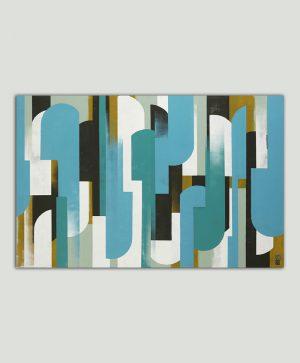 abstract schilderij blauw