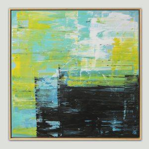 abstract schilderij in lijst