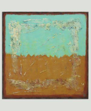 abstract vierkant schilderij