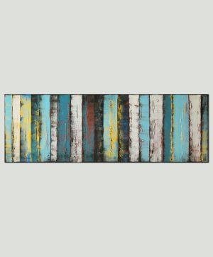 blauw abstract schilderij