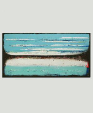 blauw acryl schilderij