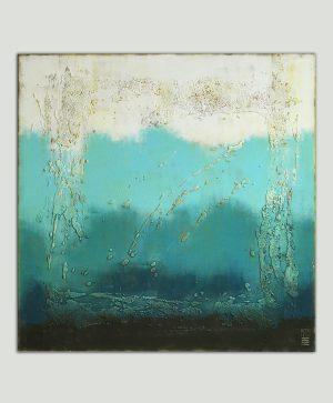 blauw schilderij