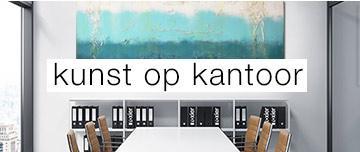 kantoor kunst modern blauw abstract schilderij