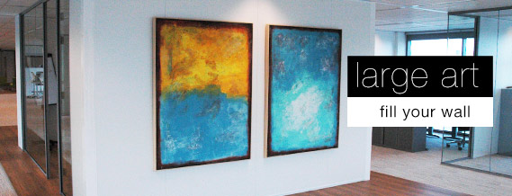 fill your wall with large abstract art