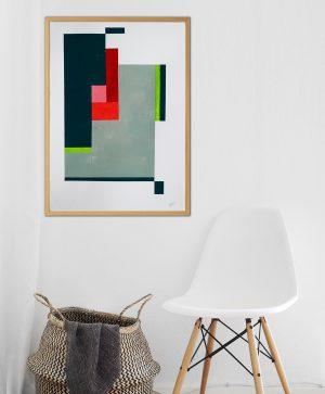 geometrisch schilderij