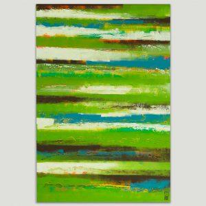 groen abstract schilderij