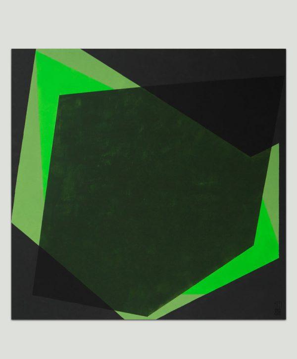groen vierkant schilderij