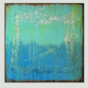 groot blauw schilderij