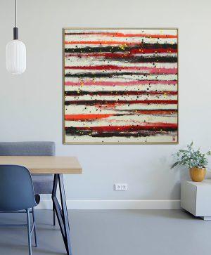 groot rood schilderij