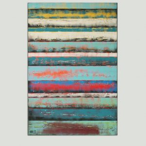 hoog abstract schilderij
