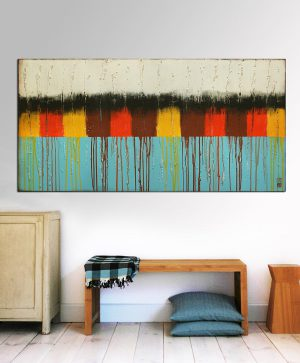 horizontaal landschap schilderij