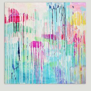 kleurrijk schildeij