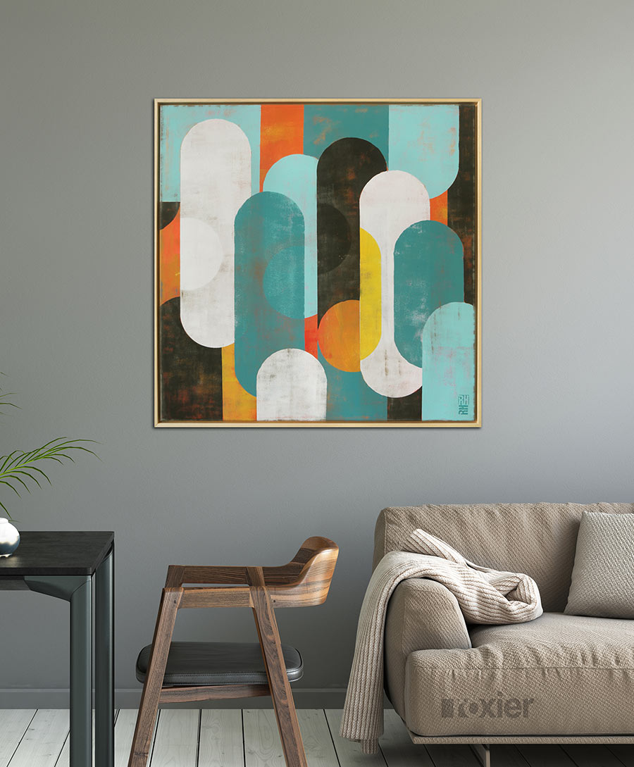 kleurrijk vierkant schilderij