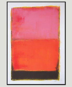 koop roze schilderij