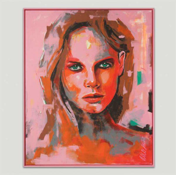 lichtroze portret