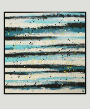 modern blauw schilderij