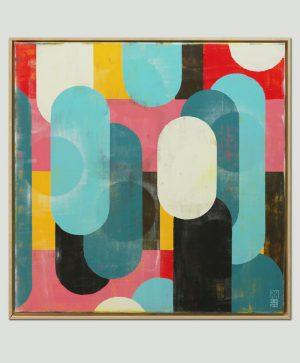 modern kleurrijk schilderij