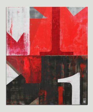 modern rood schilderij