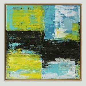modern schilderij met lijst