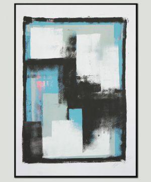modern schilderij op papier