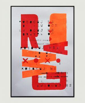 neon oranje kunstwerk