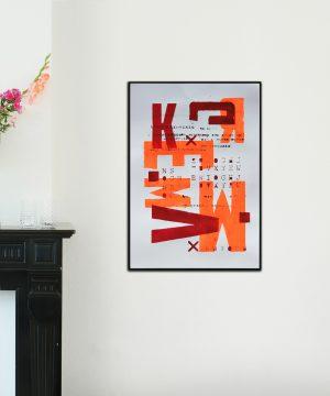 neon oranje kunst