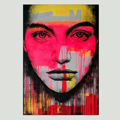 neon pop art portret