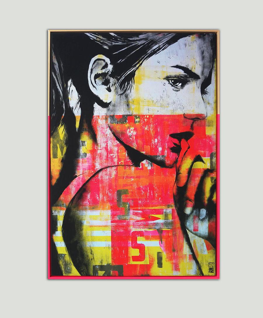 neon art portret