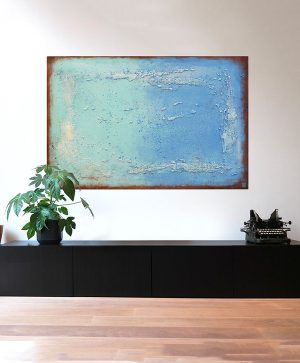 blauw kunstwerk