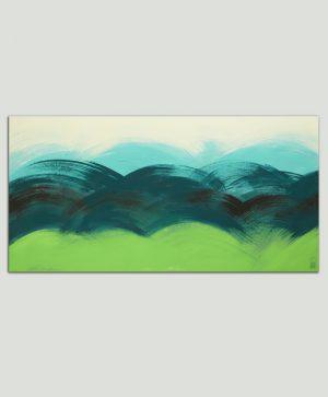 origineel groen schilderij