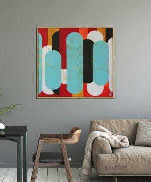 rood_vierkant_schilderij_abstract_modern_kunst_front