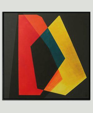 rood vierkant schilderij