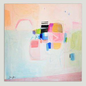 roze schilderij