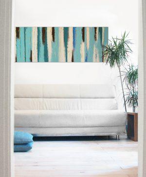 schilderij boven dressoir