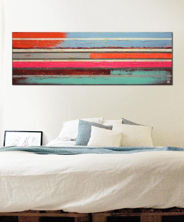 smal schilderij met neon