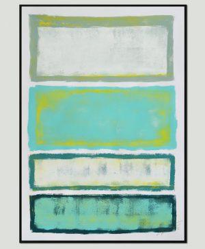 blauw modern schilderij