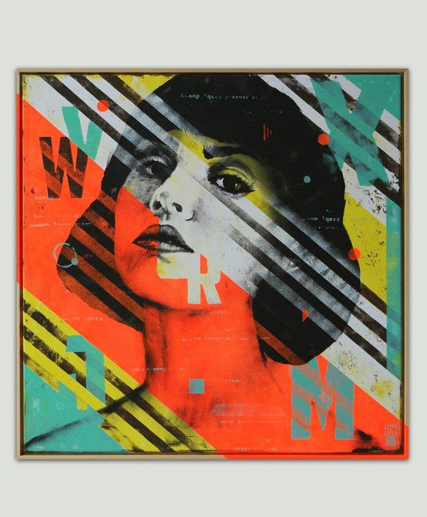 striped pop art kunst