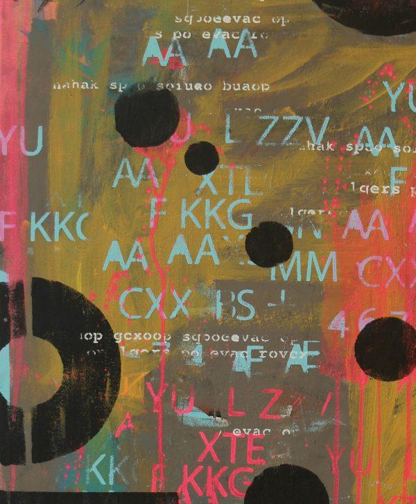 typografische schilderij